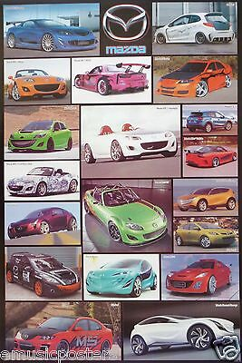 """Automobiles """"mazda Sports Cars"""" 18 Models Poster"""
