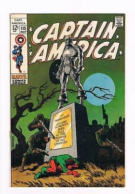 Captain America # 113 Classic Steranko cover / art grade 8.5 scarce hot book !!