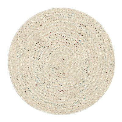New Diva Bleached Natural Rug Network Flatweave Hand Woven Multi dimension