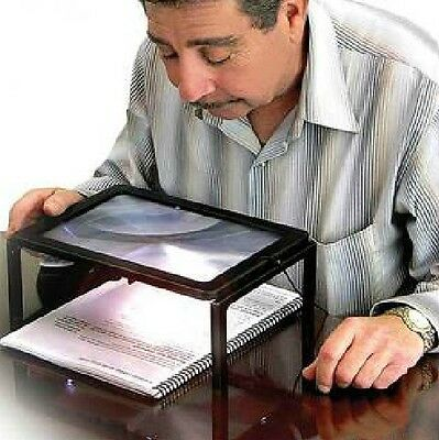 Giant Hands Free Magnifier Magnifying Glass Reading Knitting desktop Magnifier