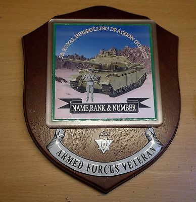 5th Royal Inniskilling Dragoon Guards Veteran Wall Plaque with name rank& number
