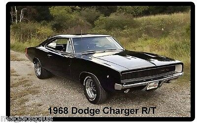 1968 Dodge Charger RT  Auto Refrigerator / Tool Box  Magnet