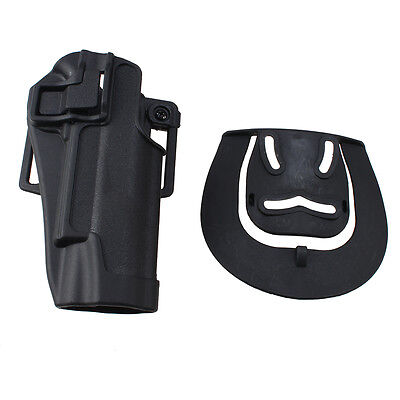 Hot Black Quick Tactical Holster Right Hand Paddle & Belt Holster for Colt 1911