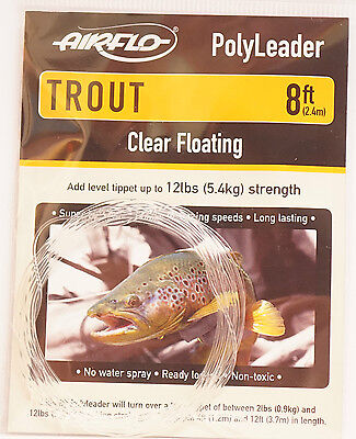 2,40Mtr AIRFLO Polyleader TROUT 8ft CLEAR INTERMEDIATE