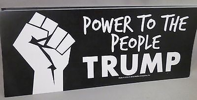 Wholesale Lot Of 20 Trump Power To The People Fist Bumper Stickers President '16