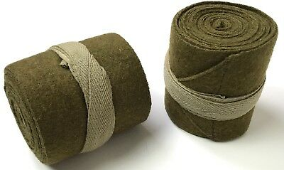 Wwi British Wool Puttees Leg Wraps-12 Feet