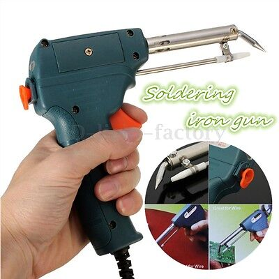 220v 60W Automatic Send tin Soldering Iron Gun Solder Stand Design Work Easier