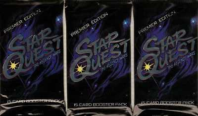Star Quest The Regency Wars Premier Edition CCG's - Three Sealed Booster Packs