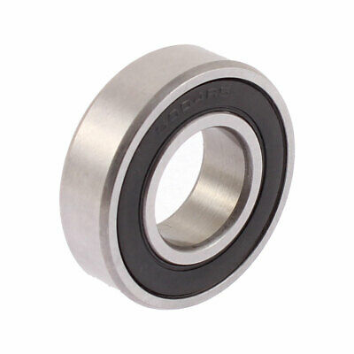 6004RS 42mm x 20mm x 11mm Rubber Sealed Deep Groove Ball Bearing Silver Tone