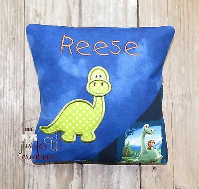 Boy's Personalized Tooth Fairy Pillow Dinosaur Brontosaurus Dino Embroidered