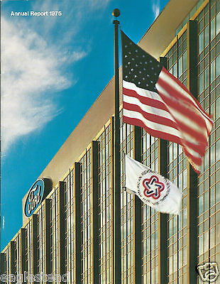 Annual Report - Ford Motor Company - 1975 - Bicentennial Flag cover (AB898)