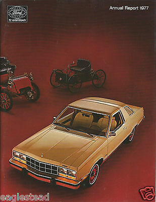 Annual Report - Ford Motor Company - 1977 - Futura Model A Zephyr cover (AB900)