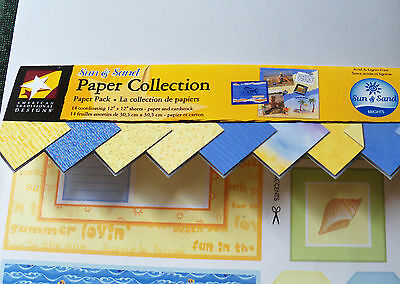 American Traditional Designs 12x12 Paper Sheets~Sun & Sand~Partial Pack New/NLA