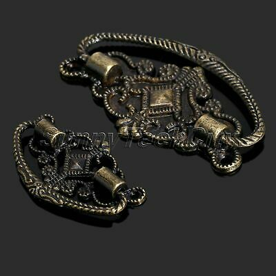 6Pcs Antique Brass Cabinet Drawer Door Pull Handle Knob Dresser Cupboard Decor