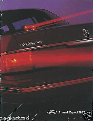 Annual Report - Ford Motor Company - 1987 - Lincoln Continental cover (AB909)