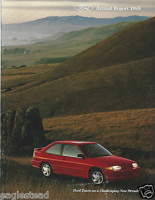 American vehicles brochures catalogs automobilia for Ford motor company annual report