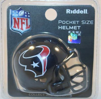NFL American Football Riddell Pocket Revolution Helmet HOUSTON TEXANS