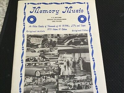 Memory Music Catalog 1975  Volume VI Edition