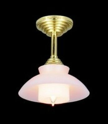 Dolls House Lighting: Ceiling Light with White Shade