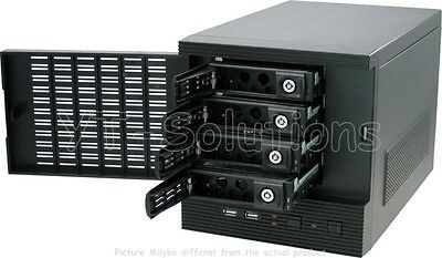 CFI A7879 Mini-ITX NAS Server Case w/ 4 Hot-Swappable HDD/SSD Trays USB2.0