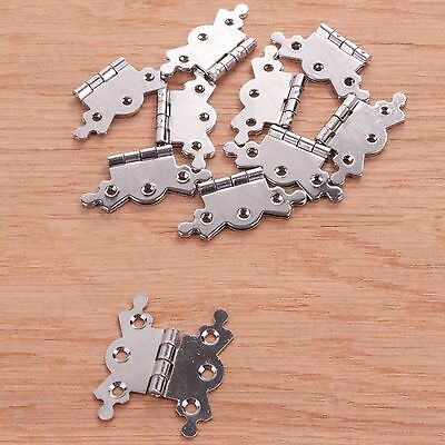 "10 x POLISHED CHROME 1.5"" BUTTERFLY BUTT HINGE Decorative Cupboard/Cabinet Door"