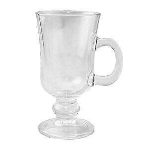 Set of 2 Irish Coffee Glasses Latte Chocolate Cup Mug Glass, Clear (Gift Boxed)