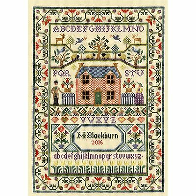 BOTHY THREADS COUNTRY COTTAGE SAMPLER CROSS STITCH KIT by MOIRA BLACKBURN