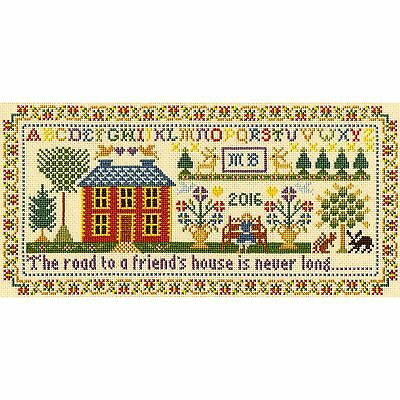 BOTHY THREADS FRIEND'S HOUSE SAMPLER CROSS STITCH KIT by MOIRA BLACKBURN