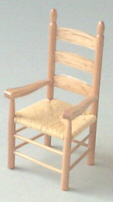 Dolls House Furniture:  Wooden Carver Chair   in 12th scale