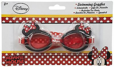 Girls Kids Children Disney Minnie Mouse Character 3D Swimming Glasses Goggles 3+