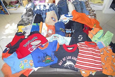 LOT of 39 BOYS SUMMER CLOTHES ~OLD NAVY,HILFIGER,POLO,LEVIs ++ ~ SIZE 2T/24 MOS