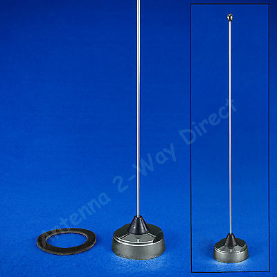 VHF 2 METER 144-152 MHz NMO 1/4 WAVE WHIP ANTENNA PRE-TUNED CHROME