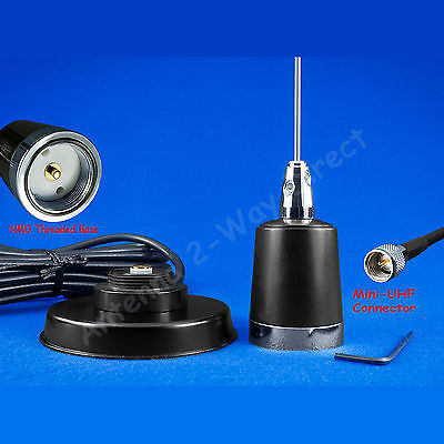 Gmrs Uhf Antenna Nmo Magnetic Mount Mini-Uhf Kit Compatible Motorola Mobiles