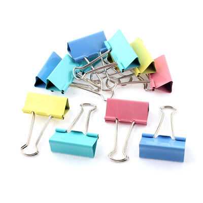 Home Office School Student Document Paper File Binder Clips Clamp Holder 10pcs