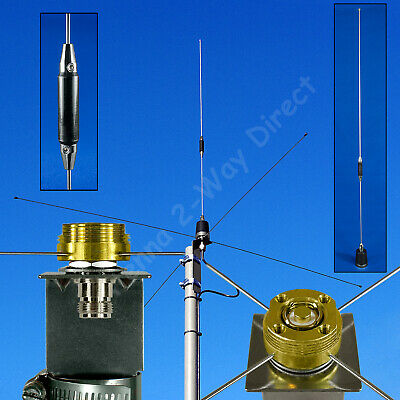 DUAL BAND BASE STATION ANTENNA 150/450MHz COMMERCIAL FREQUENCIES