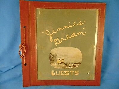 "Old Scrapbook celebrating a birthday ""Jennie's Dream"" 1948-1963 photos keepsake"