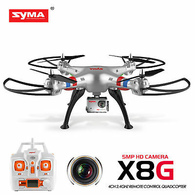 Syma X8G 2.4G 6-Axis8MP HD Camera Headless Mode RC Drone Quadcopter 2Batteries