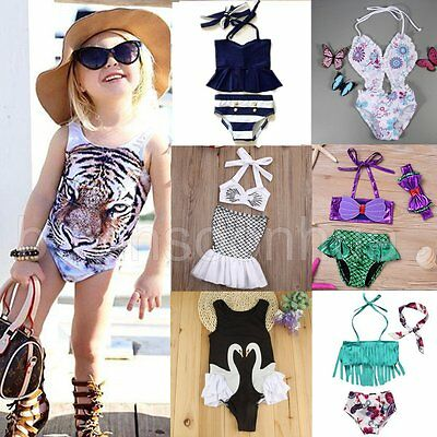 Toddler Kids Baby Girls Tankini Bikini Swimwear Swimsuit Bathing Suit Beachwear