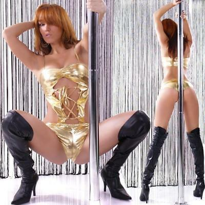 Sexy Body-Top Clubwear Gogo Gold 34/36/38 #gw076