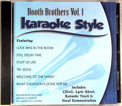 Booth Brothers Volume 1 Christian Karaoke Style NEW CD+G Daywind 6 Songs