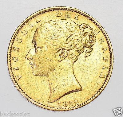 Extremely Rare 1862 Sovereign, R Over Inverted R In Victoria, British Gold Coin