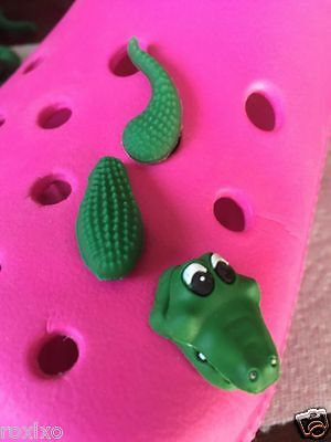 3D Alligator Shoe Charm Fits Crocs 3D Crocodile Shoe Charm Rare Alligator Charm