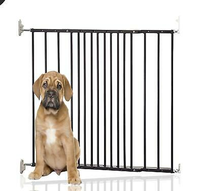 New Safetots Extending Metal Pet Dog Stair Safety Gate Barrier Fence Black Home
