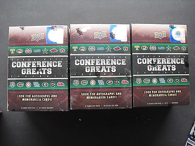 3x NFL Upper Deck Conference Greats Football 2014 Trading Card Box Seald/OVP