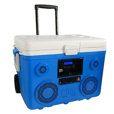 KoolMax 40 qt. cooler with Bluetooth PA System and charging station