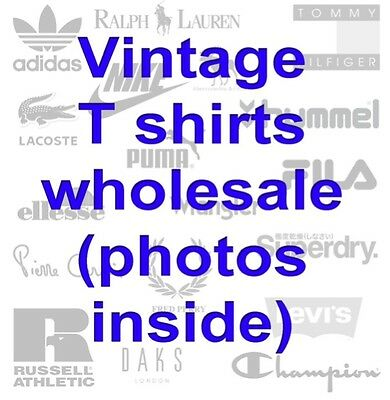 Wholesale Joblot 70 x Branded Vintage Retro Mixed T Shirts Tops ALL PHOTOS SHOWN