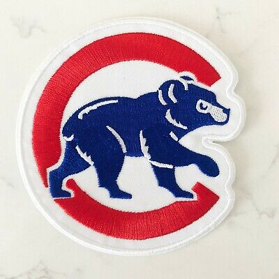 """Chicago Cubs Walking Cubbie Bear Jersey Patch 4.0"""" Iron on"""