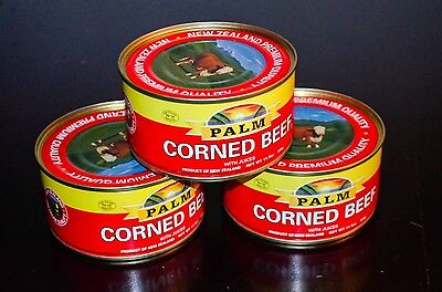 PALM CORNED BEEF WITH JUICES 11.5 oz/326g Product of New Zealand (3 PACK)