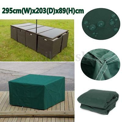 8 Seater Rectangular Outdoor Furniture Cover Waterproof For Patio Table Chair