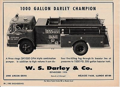 Cicero Il  Has A Darley Fire Engine  1967   Ad